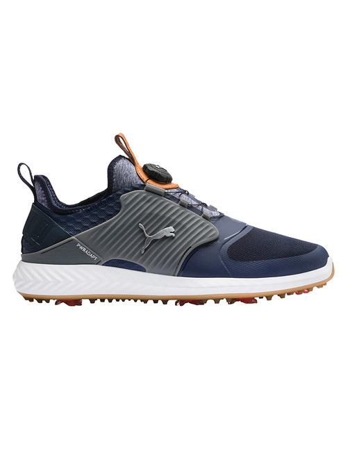 Puma IGNITE PWRADAPT Caged DISC Golf Shoes - Peacoat/Silver/Quite Shade