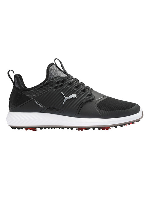 Puma IGNITE PWRADAPT Caged WIDE Golf Shoes - Black/Silver/Black