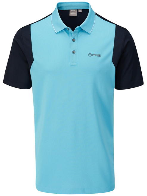 Ping Vista Tailored Fit Polo - Blue Water/Navy