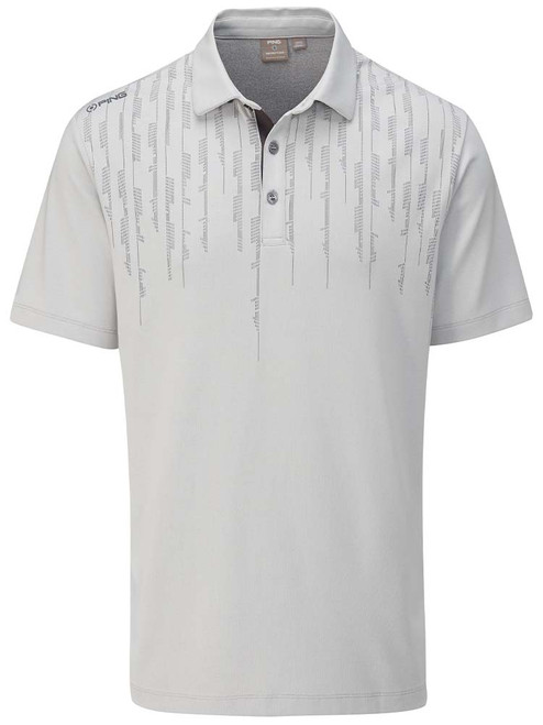 Ping Carbon Tailored Fit Polo - Silver