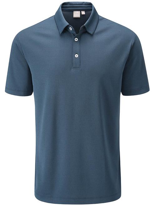 Ping Preston Tailored Fit Polo - Oxford Blue Multi