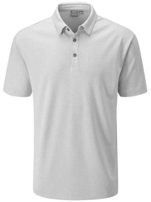 Ping Preston Tailored Fit Polo - Silver Multi
