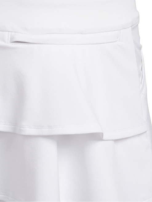 Adidas JR Girls Ruffled Skort - White