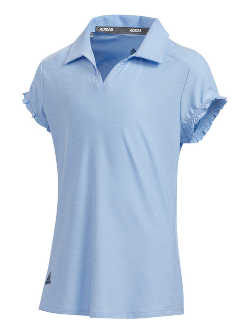 Adidas JR Girls Space-Dyed Polo - Glory Blue