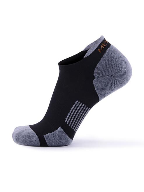 Meikan 3 Pack Low Cut Coolmax Technical Sports Socks - Black/Grey