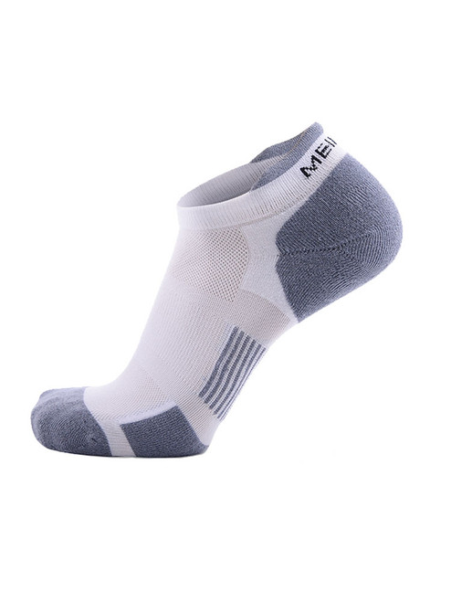 Meikan 3 Pack Low Cut Coolmax Technical Sports Socks - White/Grey
