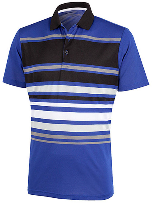 Galvin Green Miguel Polo - Surf Blue/Black/White