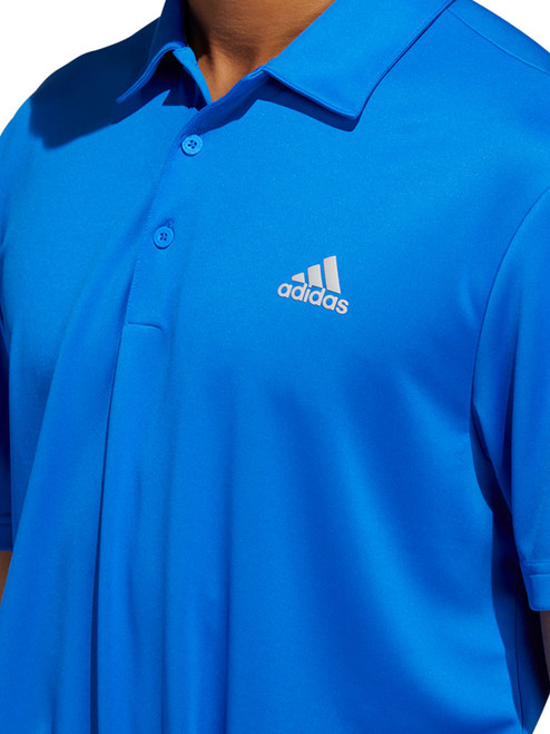 Adidas 3-Stripe Basic Polo - Glory Blue/Grey Two F17