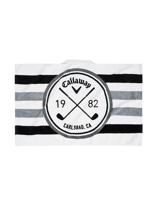 Callaway Tour Towel - White/Black/Charcoal