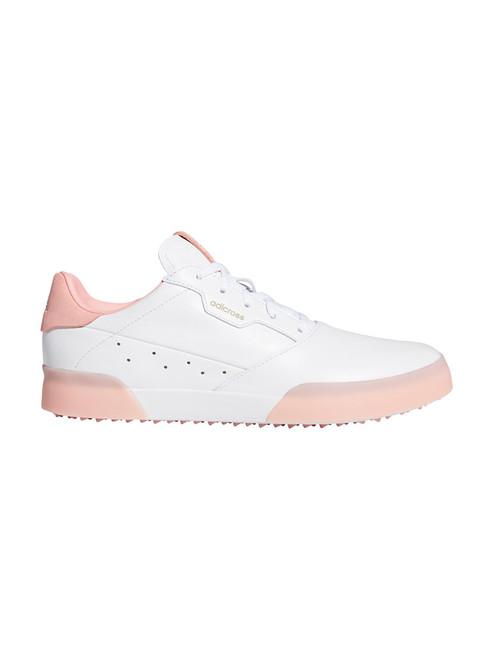 Adidas W Adicross Retro Golf Shoes - FTWR White/Glory Pink