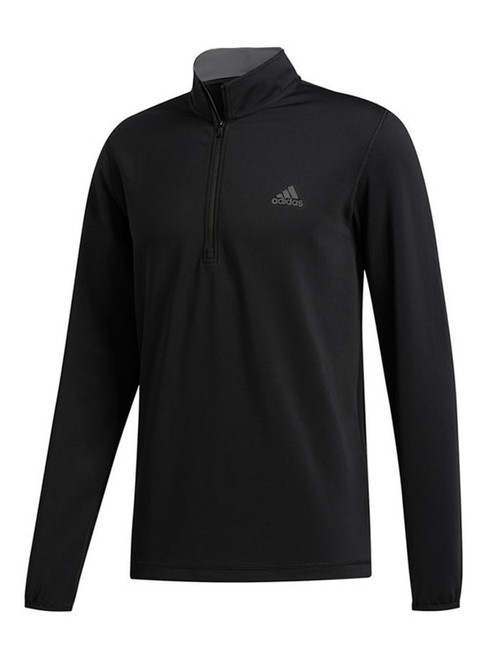 Adidas 3-Stripes Midweight Layering 1/4 Zip - Black/White