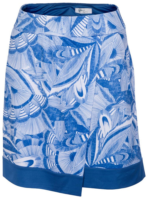 Greg Norman Vail Pull-On Knit Skort - Etched Indigo
