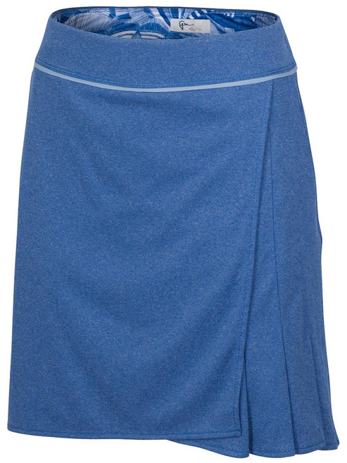 Greg Norman ML75 Ascent Pull-On Knit Skort - Etched Indigo