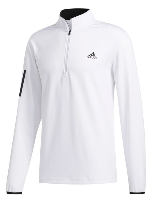 Adidas 3-Stripes Midweight Layering 1/4 Zip - White/Black