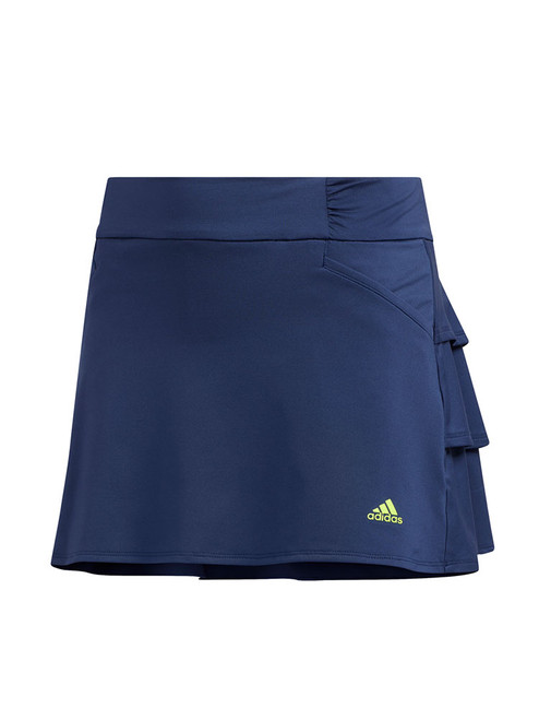 Adidas JR Girls Ruffled Skort - Tech Indigo