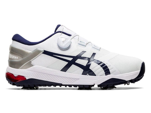 Asics Gel Course Duo BOA Golf Shoes - White/Navy/Grey