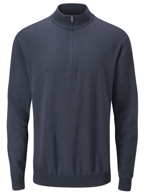 Ping Drew Zip Neck Sweater - Navy