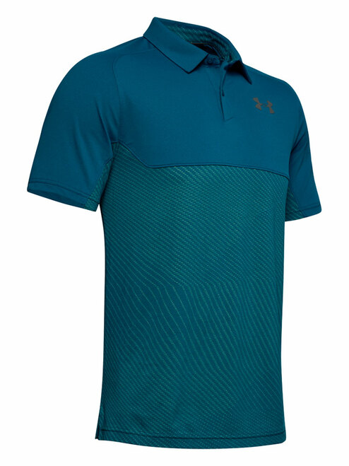Under Armour Vanish Blocked Polo - Teal