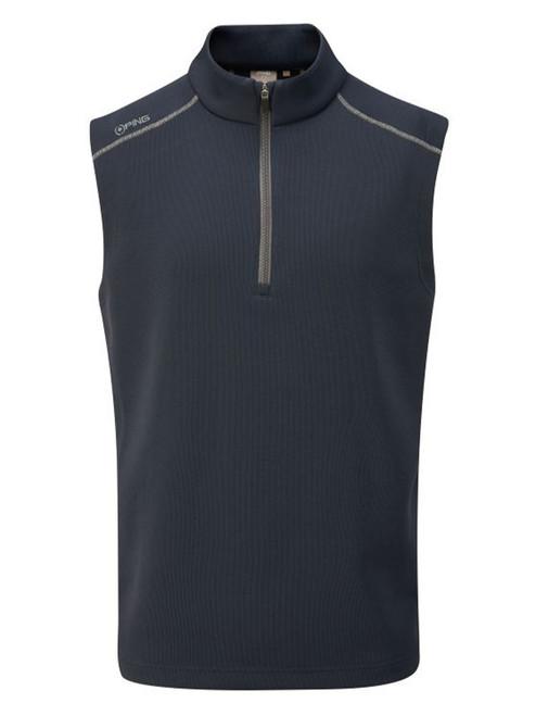 Ping Ramsey 1/2 Zip Ribbed Fleece Vest - Navy