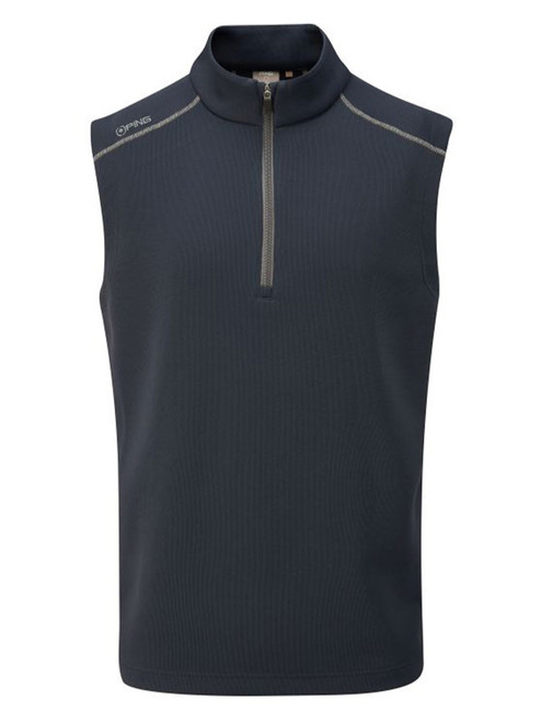 Ping Ramsey 1/2 Zip Ribbed Fleece Vest - Navy