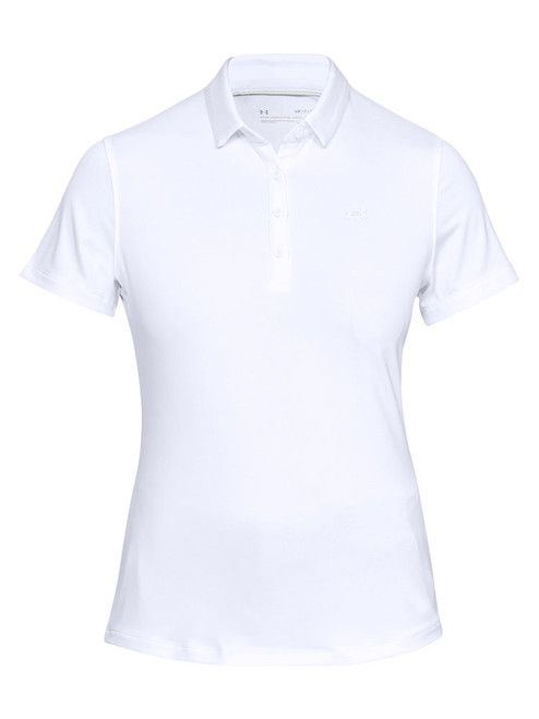 Under Armour Women's Zinger Short Sleeve Polo - White