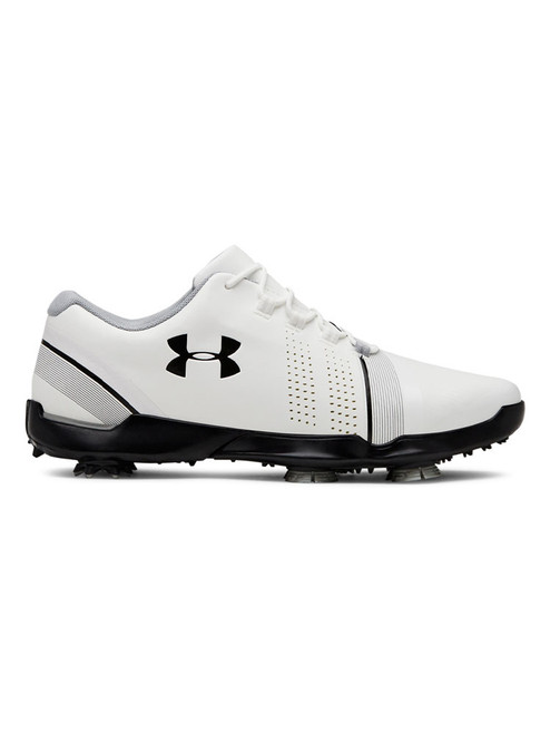 Under Armour Boys Spieth 3 Jr. Golf Shoes - White/Grey