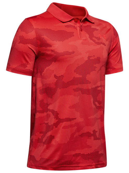 Under Armour Boys Performance Polo Textured - Martin Red