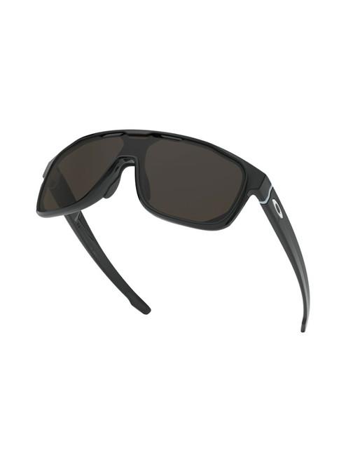 Oakley Crossrange Shield Sunglasses - Polished Black w/ Warm Grey