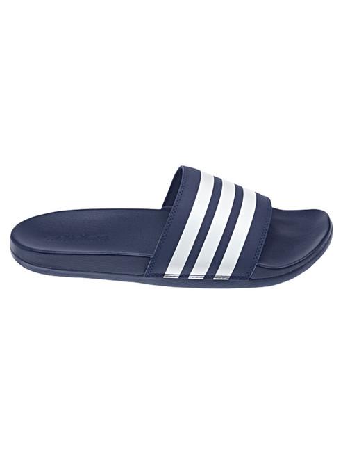 Adidas Adilette Comfort Slides - Dark Blue / Cloud White