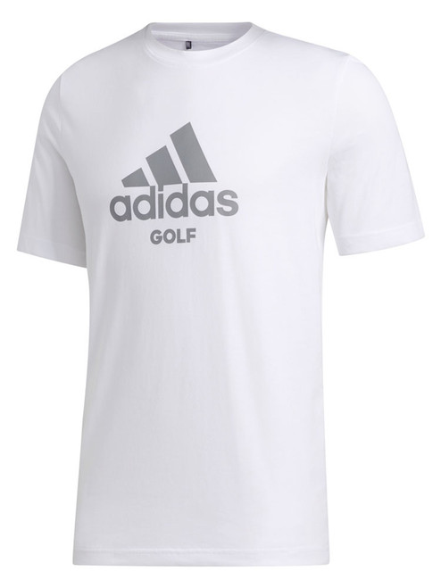 Adidas Badge Of Sport Golf Tee - White