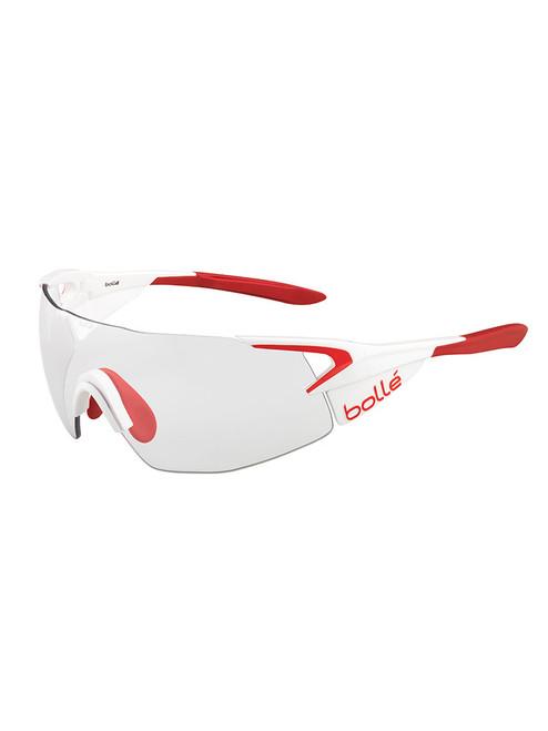 5th Element Pro Sunglasses - White Red w/ Modulator Clear