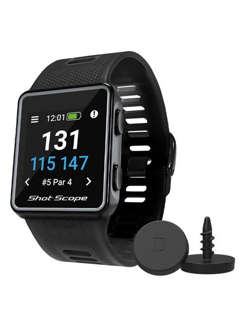Shot Scope V3 Golf GPS and Performance Tracker - Black
