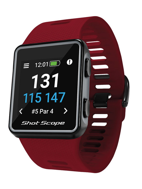 Shot Scope V3 Golf GPS and Performance Tracker - Red