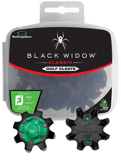 SoftSpikes Black Widow Golf Cleats Fast Twist