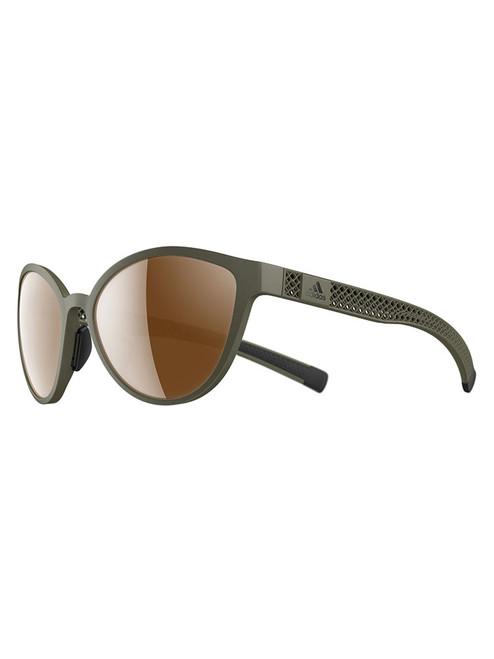 Adidas Tempest 3D Sunglasses - Olive w/ LST Contrast Silver