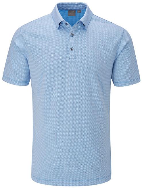 Ping Preston Tailored Fit Polo - Brilliant Blue Multi