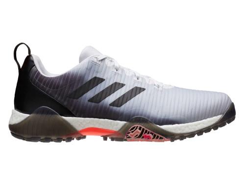 Adidas Codechaos Golf Shoes - FTWR White/Core Black/Light Flash Orange