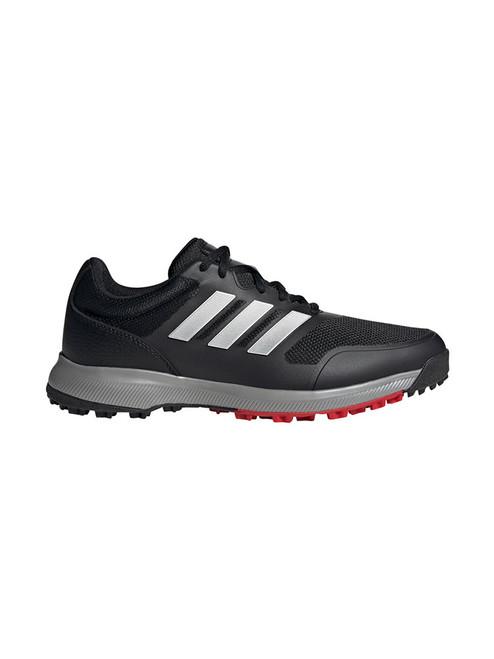 Adidas Tech Response SL Golf Shoes - Core Black/Silver Met./Scarlet