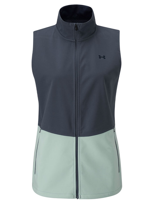 Under Armour W Soft Shell Vest - Blue Ink/Blue Frost