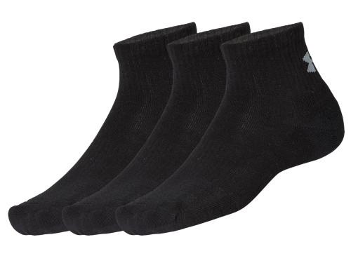 Under Armour Training Cotton Quarter Socks 3-Pack - Black