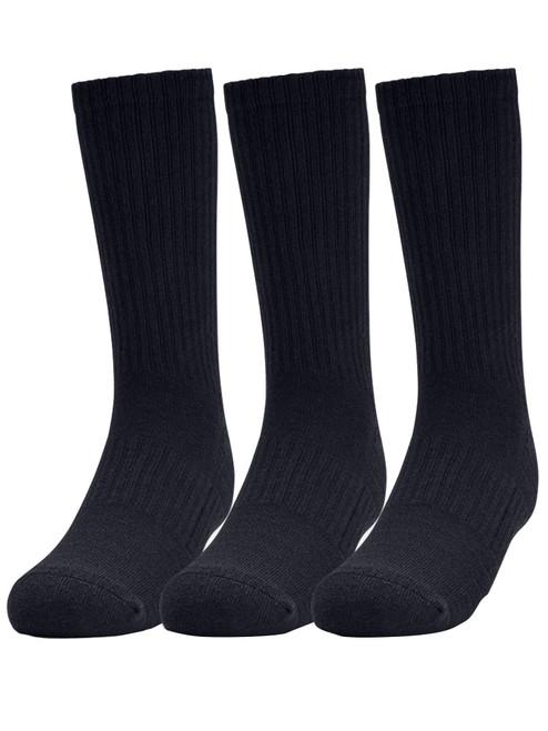 Under Armour Training Cotton Crew Socks 3-Pack - Black