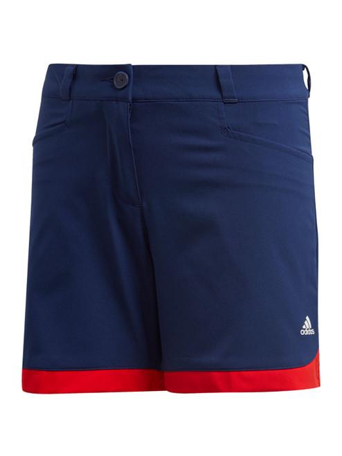 Adidas JR Girls Scalloped Shorts - Dark Blue