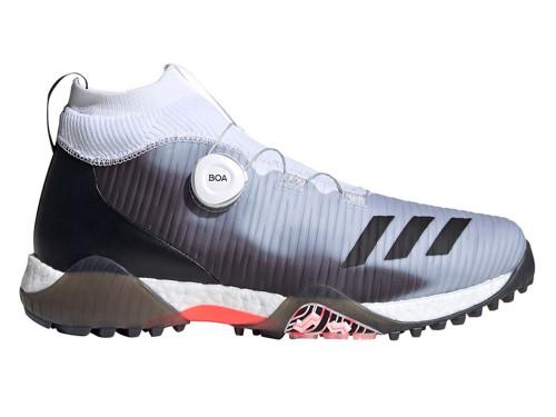 Adidas Codechaos BOA Golf Shoes - Cloud White/Core Black/Light Flash Orange