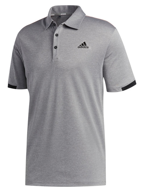 Adidas Core Novelty Polo Shirt - Grey Three