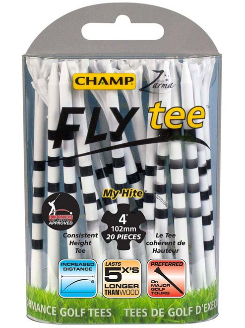 CHAMP FLYtee MyHite 20 Pack 4 Inches White/Black