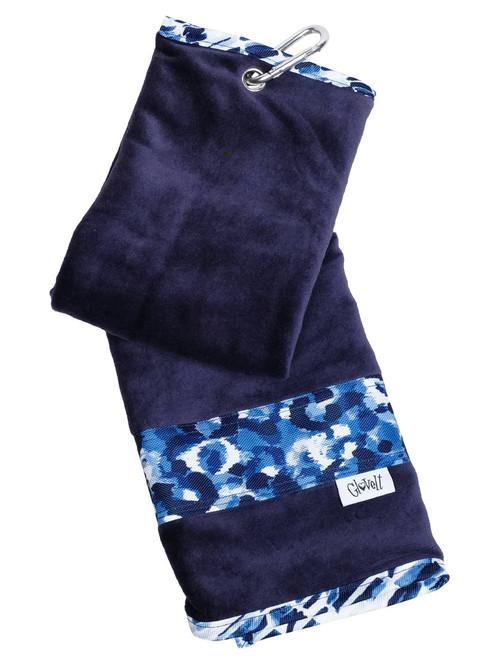 Glove It Towel - Blue Leopard