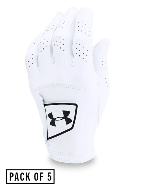 Under Armour Spieth Tour Golf Glove - 5 Pack White