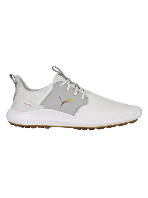 Puma IGNITE NXT Crafted Golf Shoes - White/High Rise/Gold