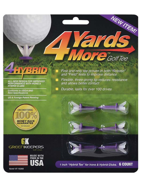 4YARDSMORE Golf Tees 6 Pack 1.00 Inch
