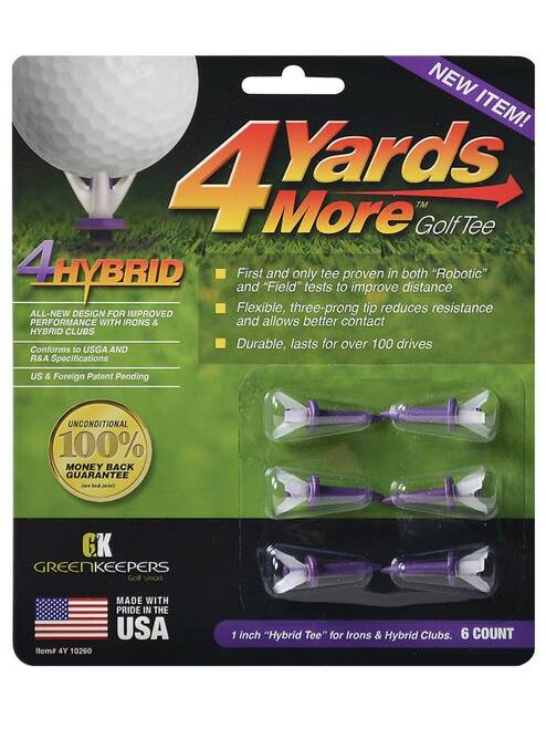 4YARDSMORE Golf Tees 6 Pack 1.00 Inch